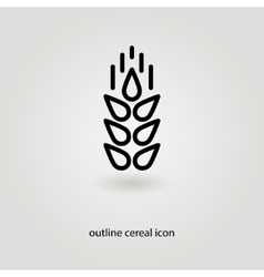 Simple outline cereal icon vector