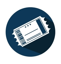 ticket cinema paper isolated icon vector image vector image