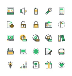 User Interface and Web Colored Icons 2 vector image vector image