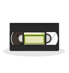 Vintage video cassette isolated on a white vector