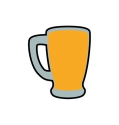 Beer glass icon drink and alcohol design vector