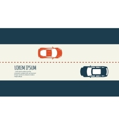 Highway traffic minimalistic banner vector