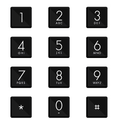 Numeric keypad set design on white background vector image