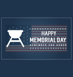 Happy memorial day banner style collection vector