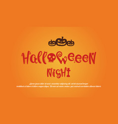 Greeting card halloween design collection vector
