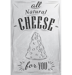 Cheese poster coal vector