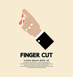 Fingers cut with knife vector