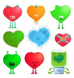 crazy hearts vector image