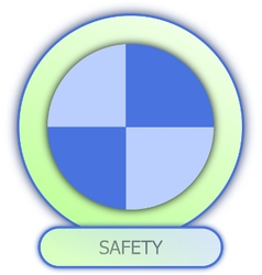 Icons and symbols of car parts safety dummy symbol vector