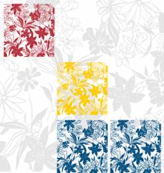 Flower panels vector