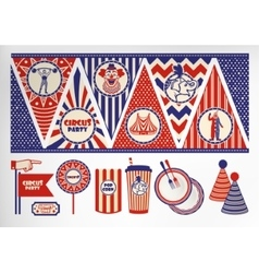 Birthday card with circus ticket vector