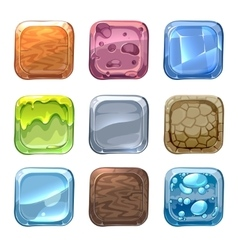 App icons with different textures in vector image