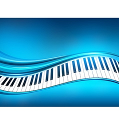 Blue piano background vector
