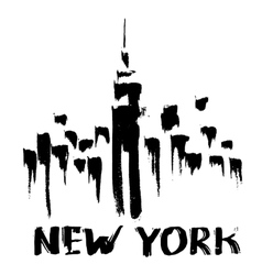 New york skyscrapers vector
