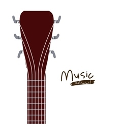 Handle acoustic guitar isolated icon design vector