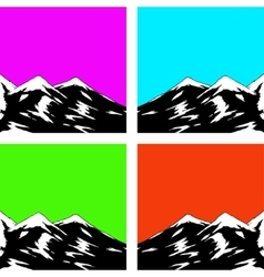 Abstract landscape with mountain range vector