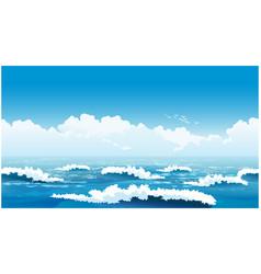 Beautiful ocean waves vector