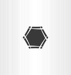 black hexagon frame icon sign vector image vector image