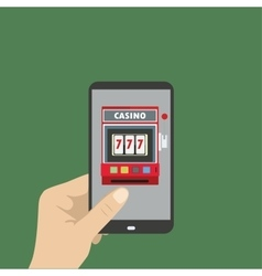 casino in smartphone vector image