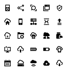 Cloud data technology icons 6 vector