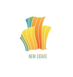 Colorful multicolored real estate logo design vector