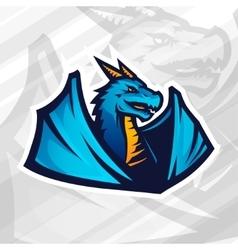 Dragon logo concept Football or baseball mascot vector image