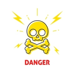 Electrical shock hazard sign electricity vector