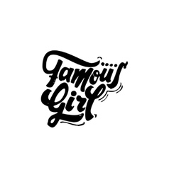 Famous girl Calligraphic patch Unique Custom vector image