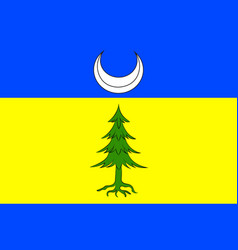 flag of saint-claude in jura of franche-comte is vector image vector image