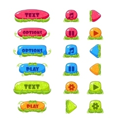 Fruitey Cartoon Buttons Set vector image