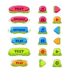 Fruitey Cartoon Buttons Set vector image vector image