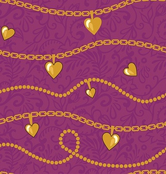Golden chains pattern vector