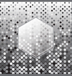 hexagon silver halftone abstract background vector image
