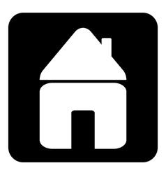 Home button vector image vector image