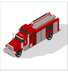Isometric fire truck vector