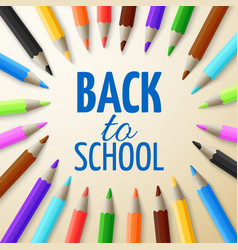 learning and school education concept back vector image vector image
