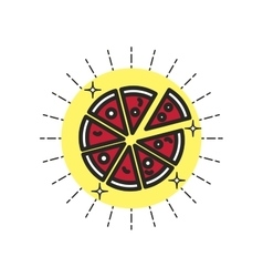 Linear icon pizza vector