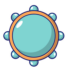 Little drums icon cartoon style vector