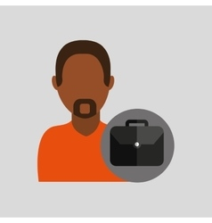 Man african portfolio businessman icon vector