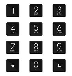 Numeric keypad set design on white background vector