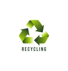Recycling icon vector image