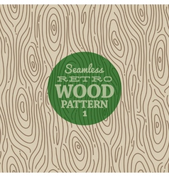 Retro wood seamless background vector image