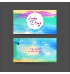 Set of two creative business card vector image
