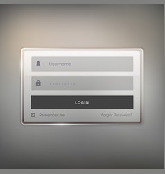 Shiny login user interface design for website and vector