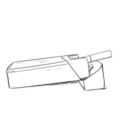 sketch of pack cigarettes vector image