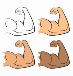 strong power muscle vector image