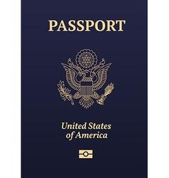 US passport vector image