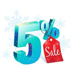 Winter Sale 5 Percent Off vector image vector image