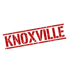 Knoxville red square stamp vector
