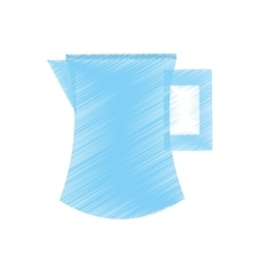 Drawing pitcher water juicy kitchen icon vector